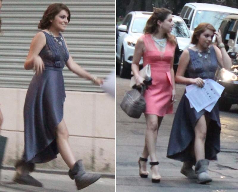 """Algunas compañeras de la actriz del Colegio Miraflores la visitaron en el set de """"Por siempre mi amor"""". Sofía se mostró de lo más feliz disfrutando de un día de llamado."""