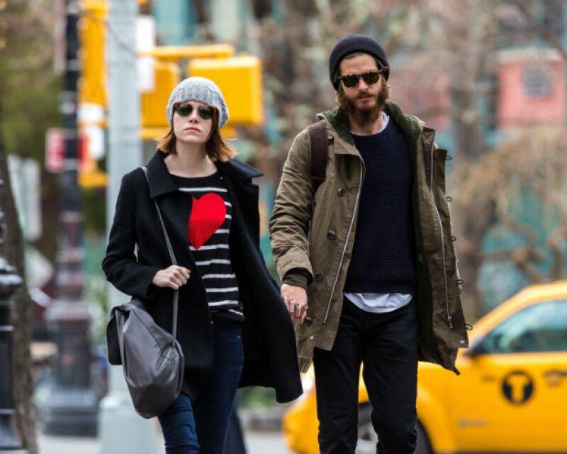 La pareja en una de sus recientes salidas invernales en las calles de Nueva York.