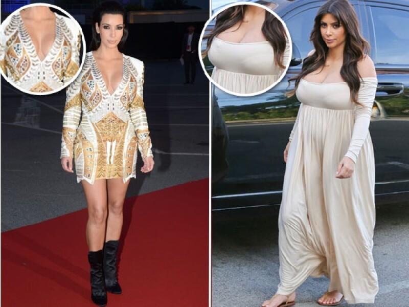 Kim siempre ha lucido grandes encantos, pero ahora lucen un tamaño extremo.