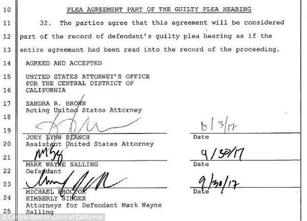 Mark Salling sentencia
