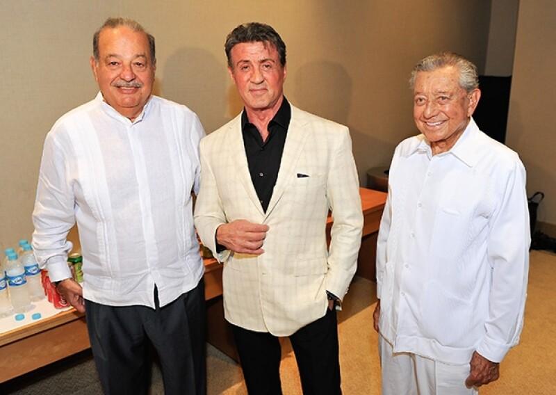 Carlos Slim Helú y Miguel Alemán Velasco tuvieron la oportunidad de convivir de cerca con el actor.