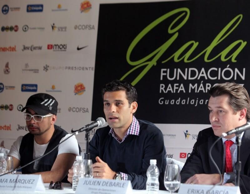 Mario Sandoval, del grupo Lu; Rafa Márzquez y el ejecutivo hotelero Julien Debarle.