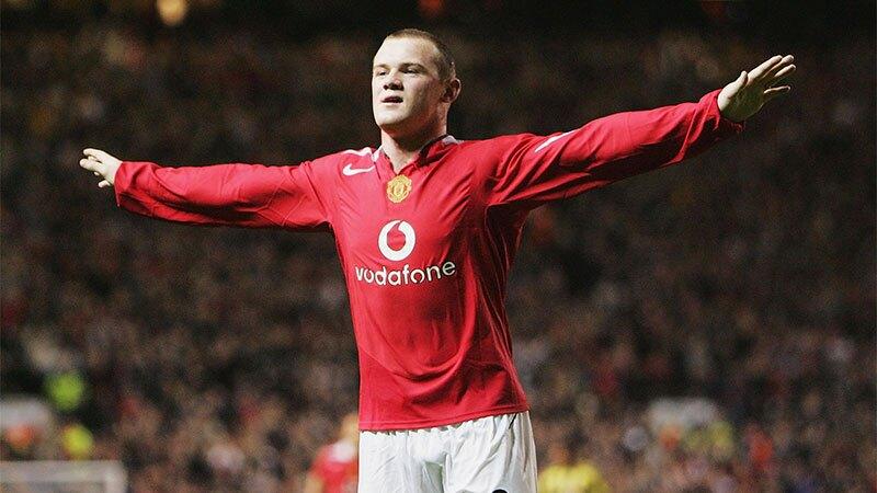 El hat trick con el que debutó Wayne Rooney en Manchester United
