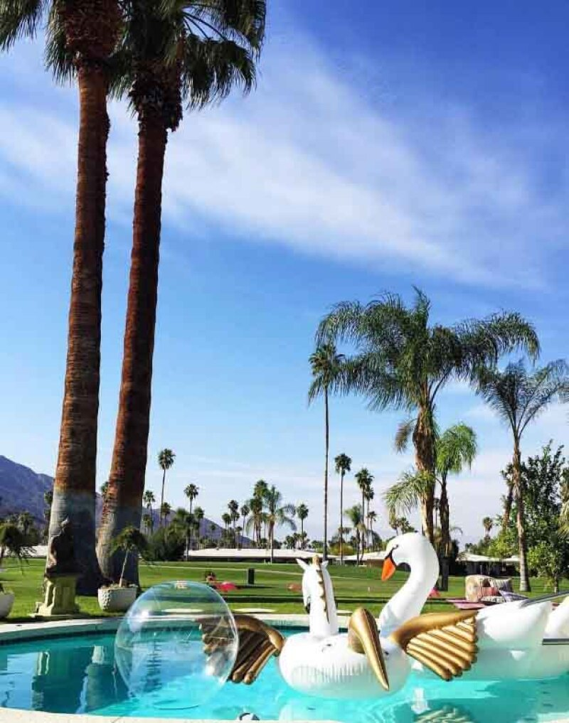 Durante Coachella 2016, la marca Revolve hizo una pool party llena de flotadores