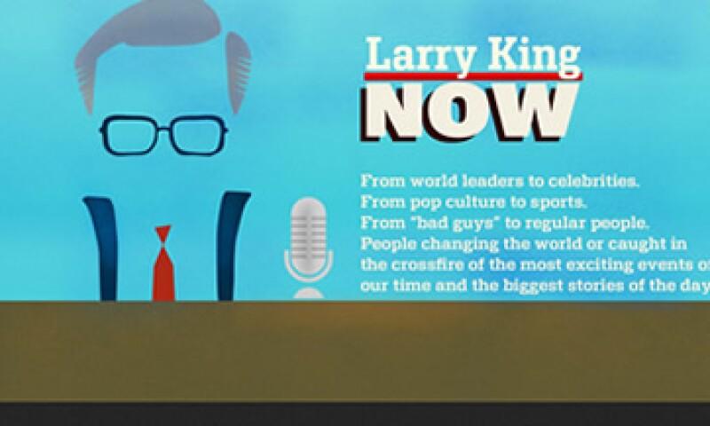 Los programas de Larry King Now también se verán a través de la plataforma de videos on demand Hulu. (Foto: Especial)