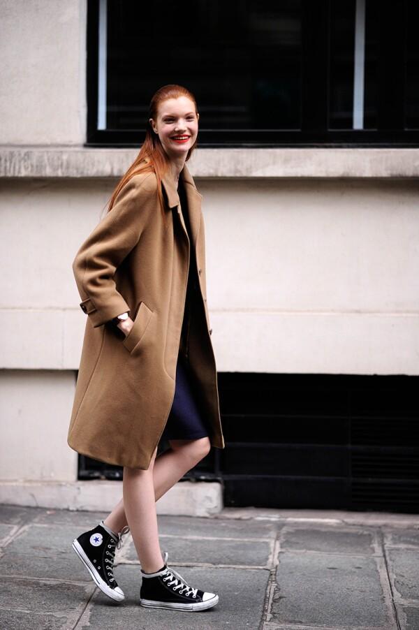 Street Style, Spring Summer 2014, Paris Fashion Week, France - 29 Sep 2013