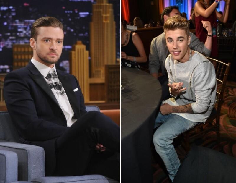 Timberlake y Bieber tuvieron éxitos radiales desde muy jóvenes.