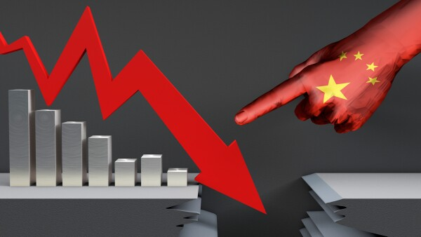 China crecimiento económico déficit