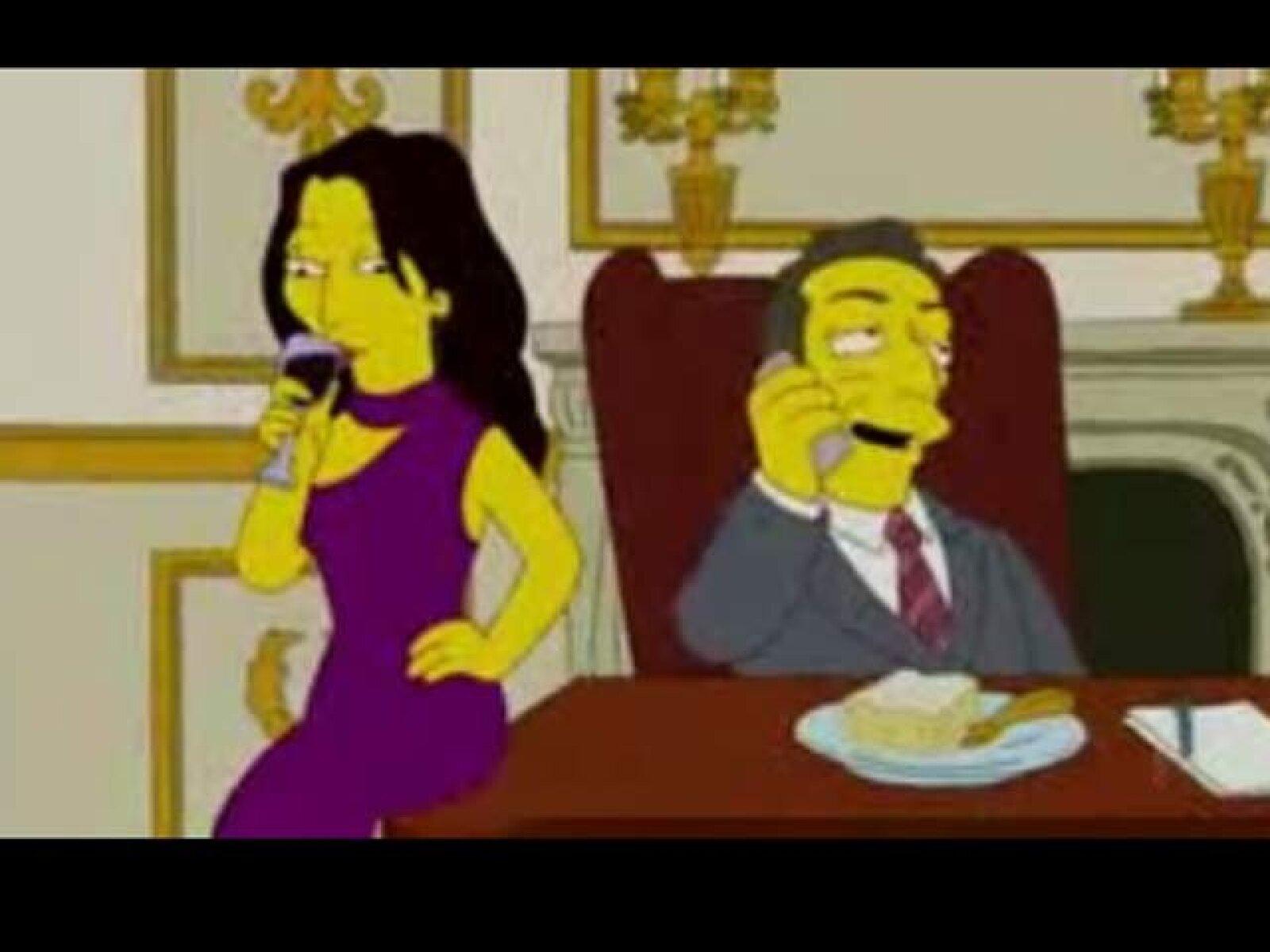 Carla Bruni y Nicolás Sarkozy.