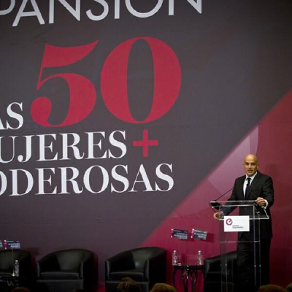 Manuel Rivera, director general de Grupo Expansión, fue el encargado de dar la bienvenida a los asistentes.