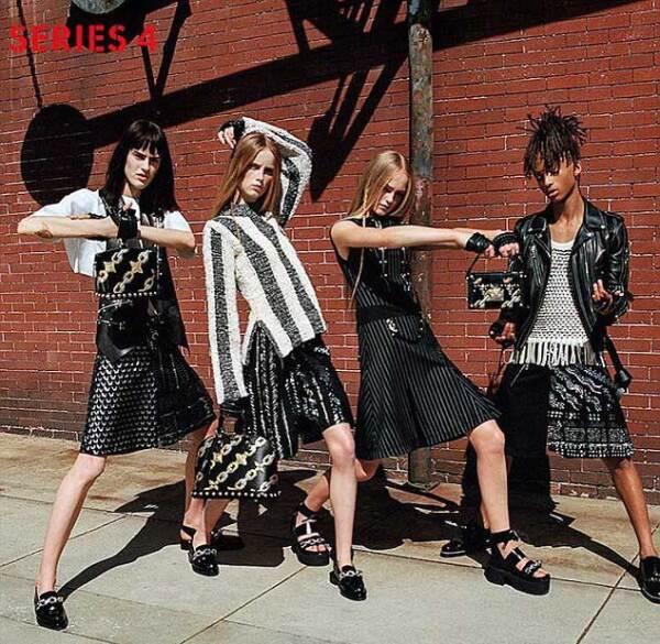Jaden Smith en su campaña para Louis Vuitton.