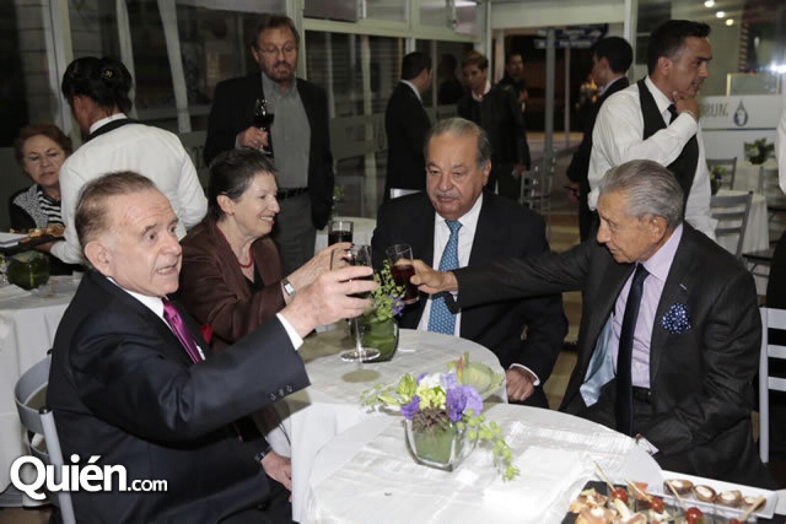 Mario Rabner,Michelle Rabner,Carlos Slim,Miguel Alemán Velasco