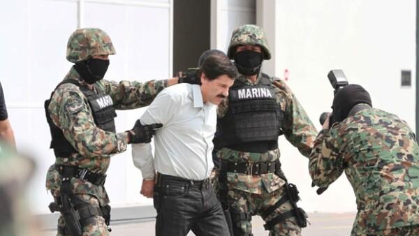 El día de ayer durante el traslado del narcotraficante al Estado de México.