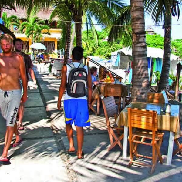 Sayulita, uno de los destinos más recorridos por jóvenes dentro de la Riviera Nayarit.