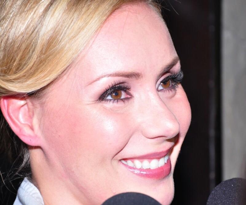 Heidi dijo a los medios que se siente muy afortunada de tener a Jaime Camil como pareja.