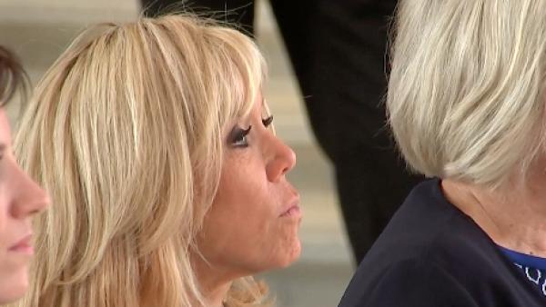 Las esposas de los líderes de la OTAN asisten a un concierto en Bruselas