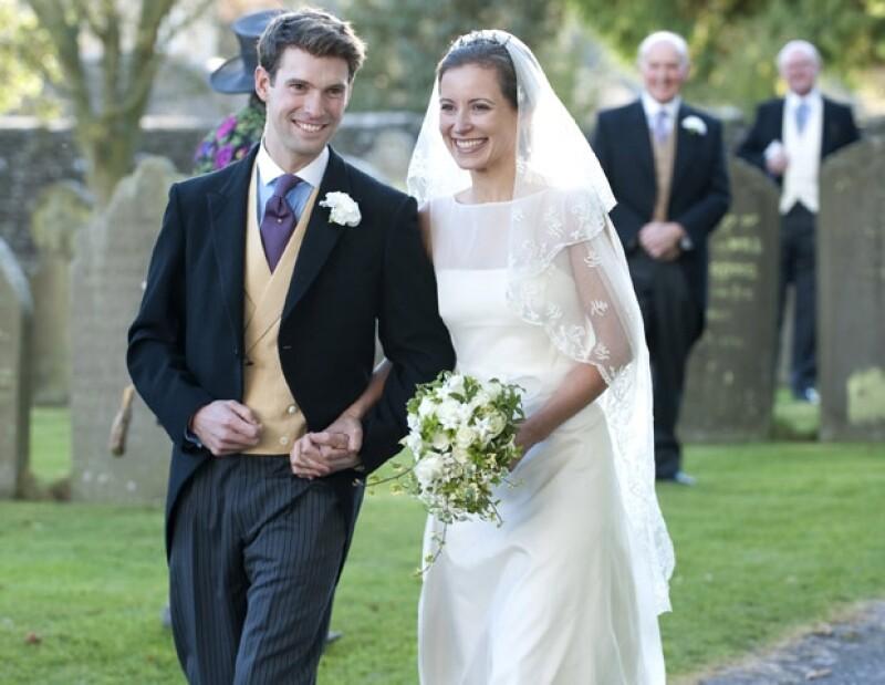 Harry y Rosie en el día de su boda.
