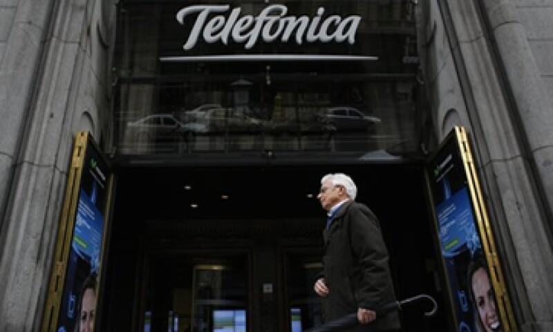 Telefónica mantuvo su estimación de ingresos de este año en 61,084 mde.    (Foto: Reuters)