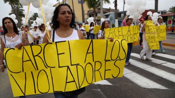 En marzo la abuela de la víctima de violación por jóvenes señalados como influyentes convocó a una marcha en Veracruz para exigir justicia.