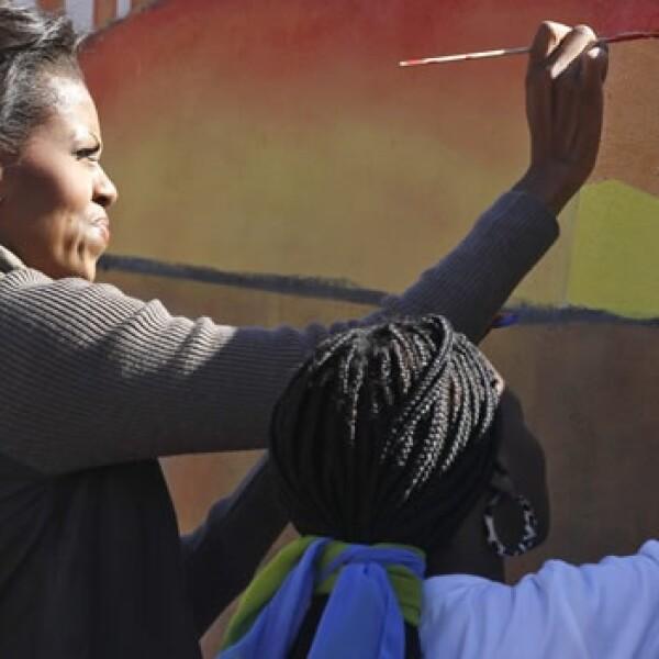Michelle Obama - Botswana - MuralMichelle Obama - Botswana - Mural