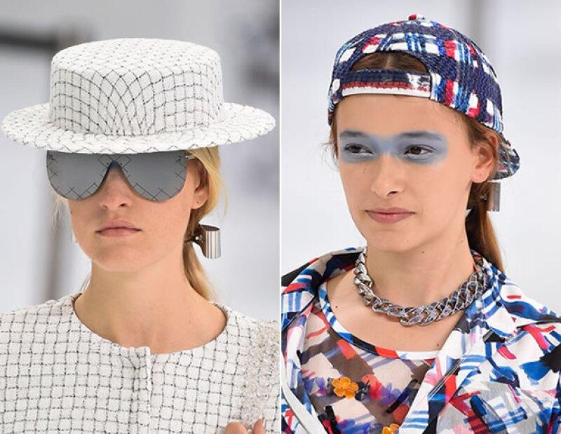 Boater hats y gorras fueron complementos de outfits.
