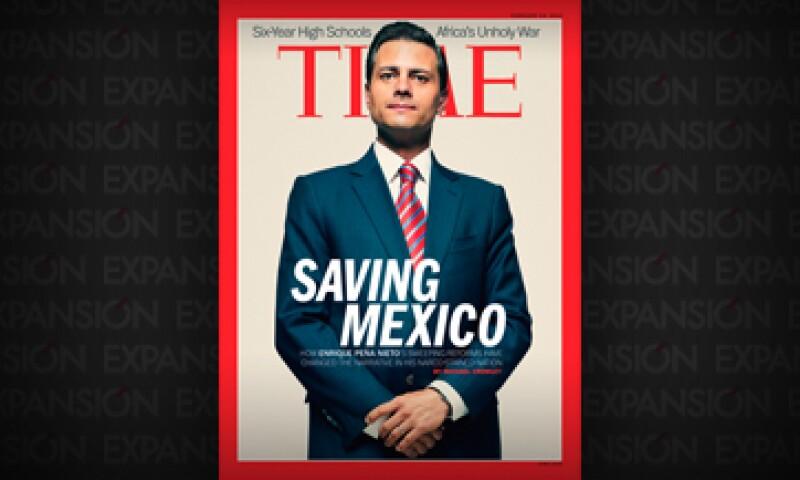 La revista destaca los logros del presidente de México. (Foto: Cortesía Revista Time)