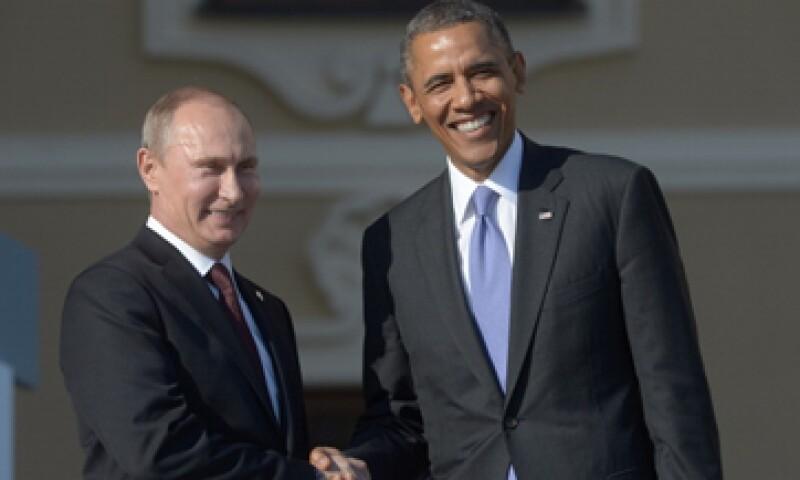 El presidente ruso, Vladímir Putin, y su par estadounidense, Barack Obama, durante la primera jornada de la cumbre del G20. (Foto: Getty Images)