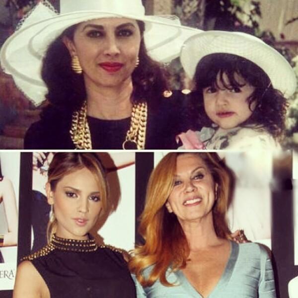Eiza y su gran apoyo, su mamá y experta en modelaje Glenda Reyna.