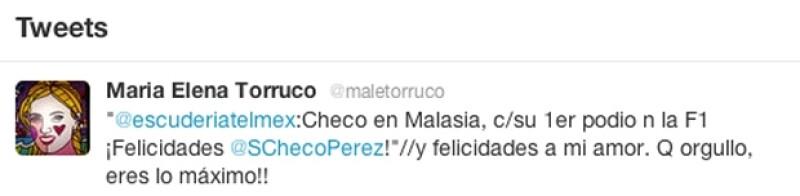 Este fui el tuit de María Elena Torruco.