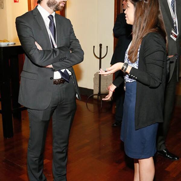 Pierre Fruchard y Daniela Galindo