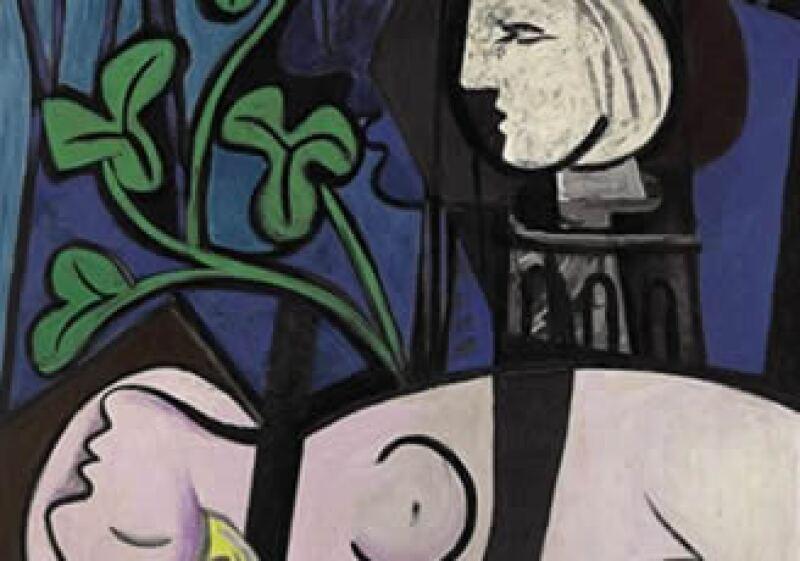 Una pieza de Picasso titulada, Desnudo, hojas verdes y busto. (Foto: AP)