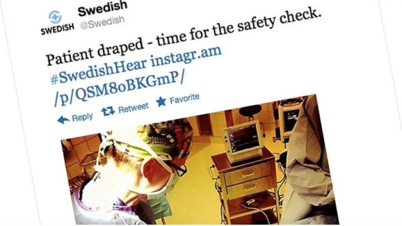 Twitter transmite en tiempo real un trasplante coclear