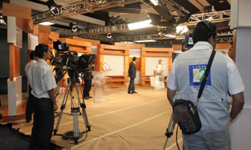 Este sábado se realizaron las pruebas en el sitio donde se realizará el debate del domingo. (Foto: Notimex)