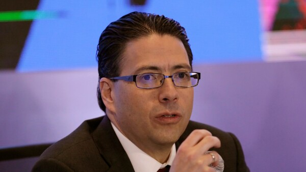 Zepeda, head of Mexico's National Hydrocarbons Commission (CNH), speaks to the media during a news conference in Mexico City
