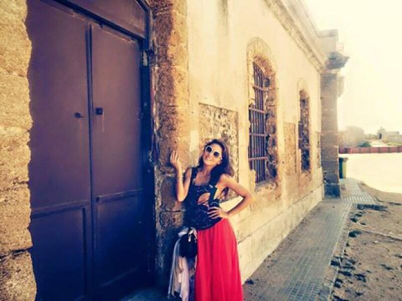 Angelique sólo ha publicado esta foto de su estancia en España.