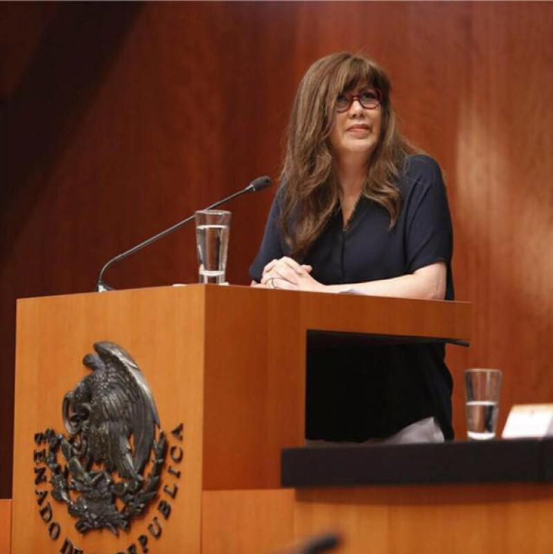 La senadora de Nueva Alianza falleció a causa del cáncer cerebral y de medula que la afectó los últimos meses.