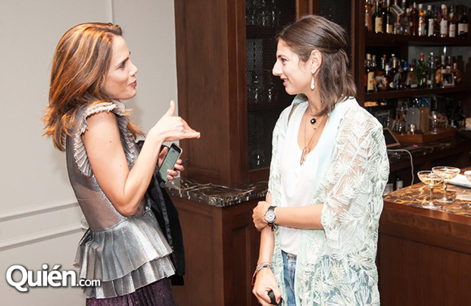 Raquel Juan Marcos y Natalya Poniatowska