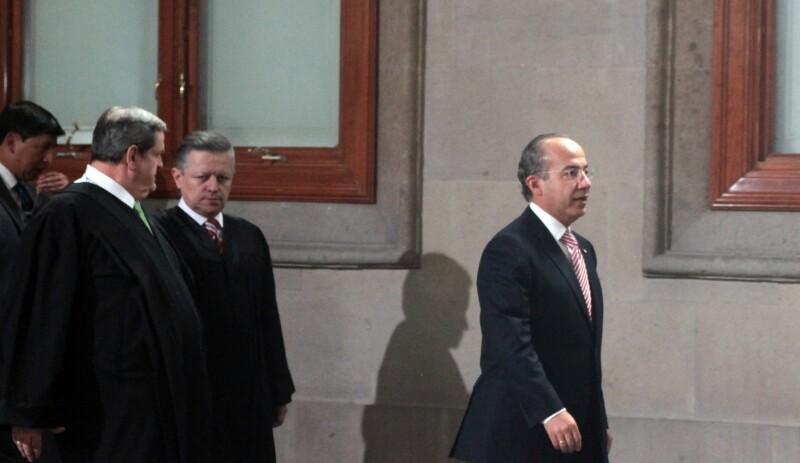 Felipe Calderón y Arturo Zaldivar