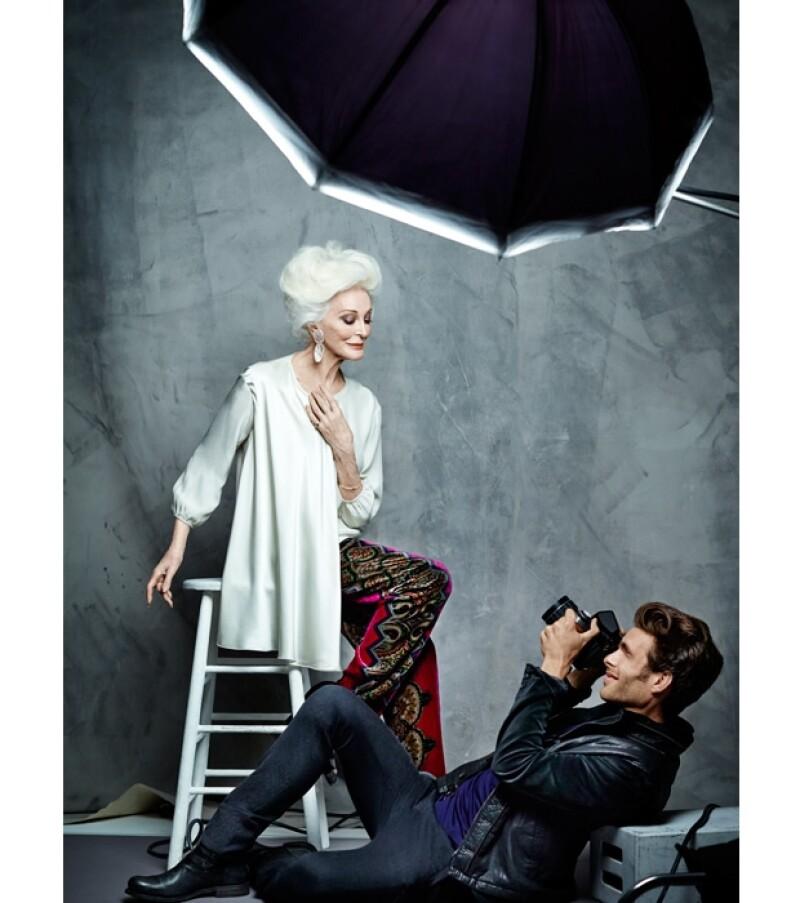 El top model español de la mano de la legendaria Carmen Dell&#39 Orefice protagonizan la historia de un fotógrafo y su musa en la última campaña de El Palacio de Hierro.