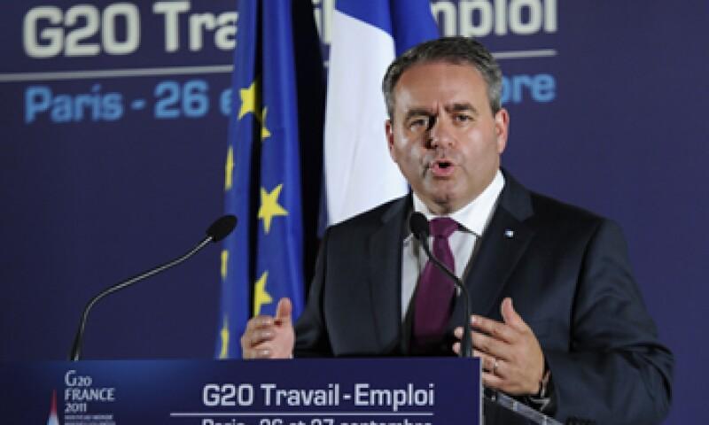 El ministro francés del Trabajo, Xavier Bertrand, dijo que los países necesitan tener bajo control las finanzas públicas, aunque esto no es razón para negar el empleo. (Foto: Reuters)