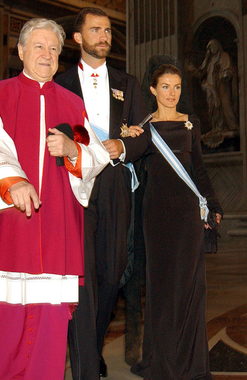 Crown Prince Felipe And Princess Letizia Ortiz Meet The Pope