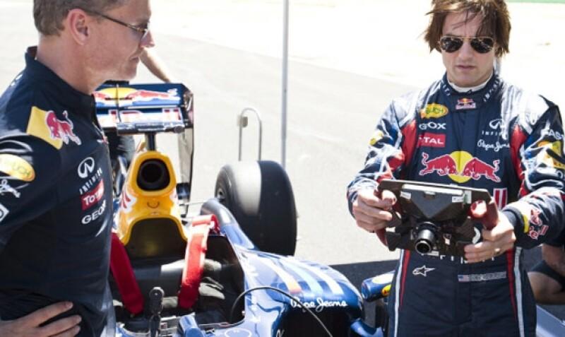 David Coulthard le dio consejos a Tom Cruise para poder pilotear un Fórmula 1.