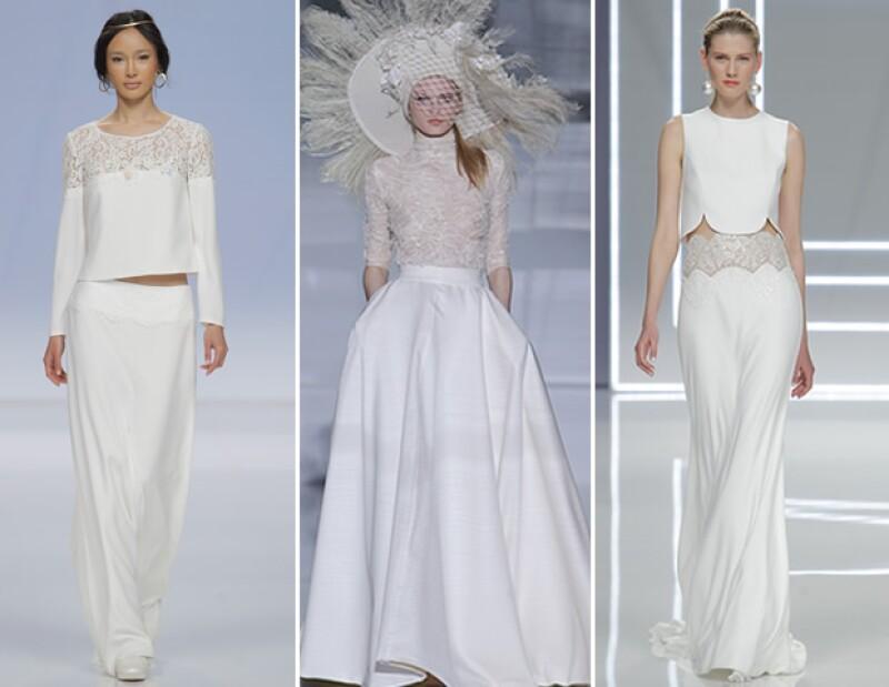 Los looks de dos piezas vuelve a estar presente en 2017. Marylise, Isabel Zapardiez y Rosa Clará fueron de las que proponen esta tendencia.