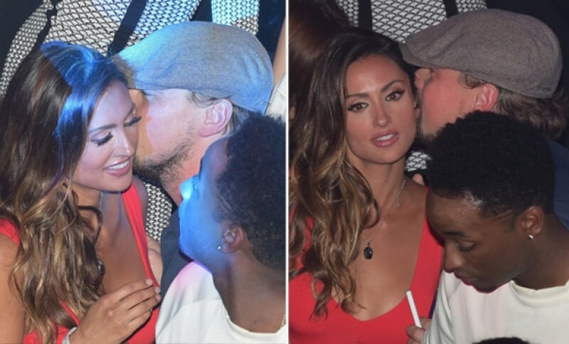 Katie y Leonardo fueron captados en una fiesta en Cannes durante el famoso festival de cine.