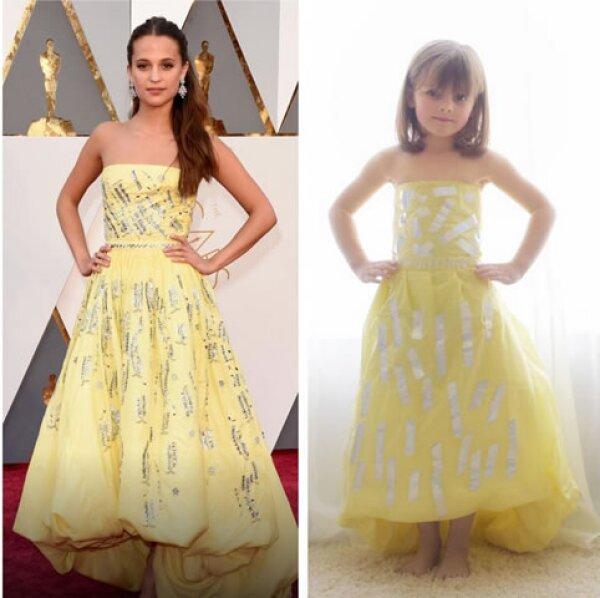 Mayhem copió el vestido con el que ganó su primer Oscar, Alicia Vikander.