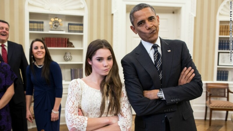 Obama y McKayla Maroney