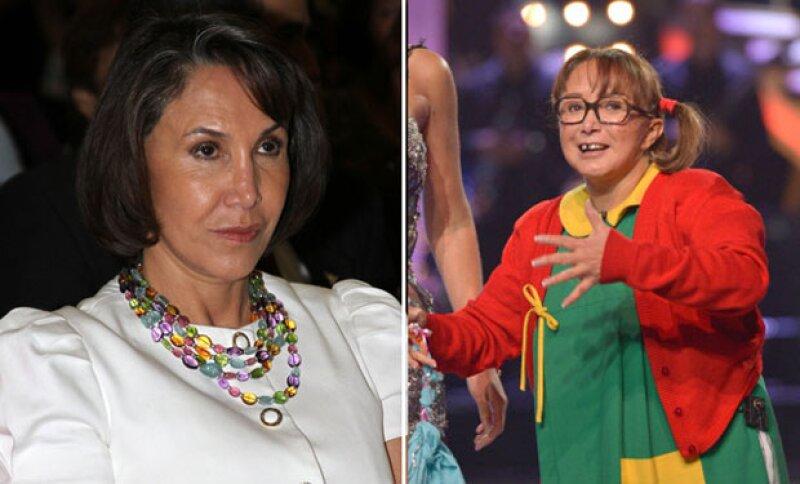 La comediante lamentó haber sido ella quien confirmara los romances que Florinda Meza mantuvo con Carlos Villagrán y Enrique Segoviano durante las grabaciones de la serie.