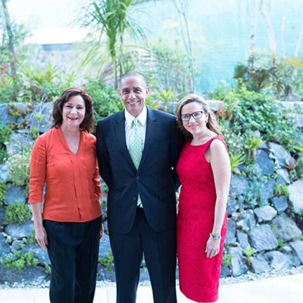 Andrea González, Luis Manuel Hernández y Katty Beltrán