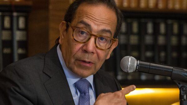 Carlos Salazar Lomelí, presidente del Consejo Coordinador Empresarial (CCE), durante la conferencia en la que dio detalles sobre avances de inversión.