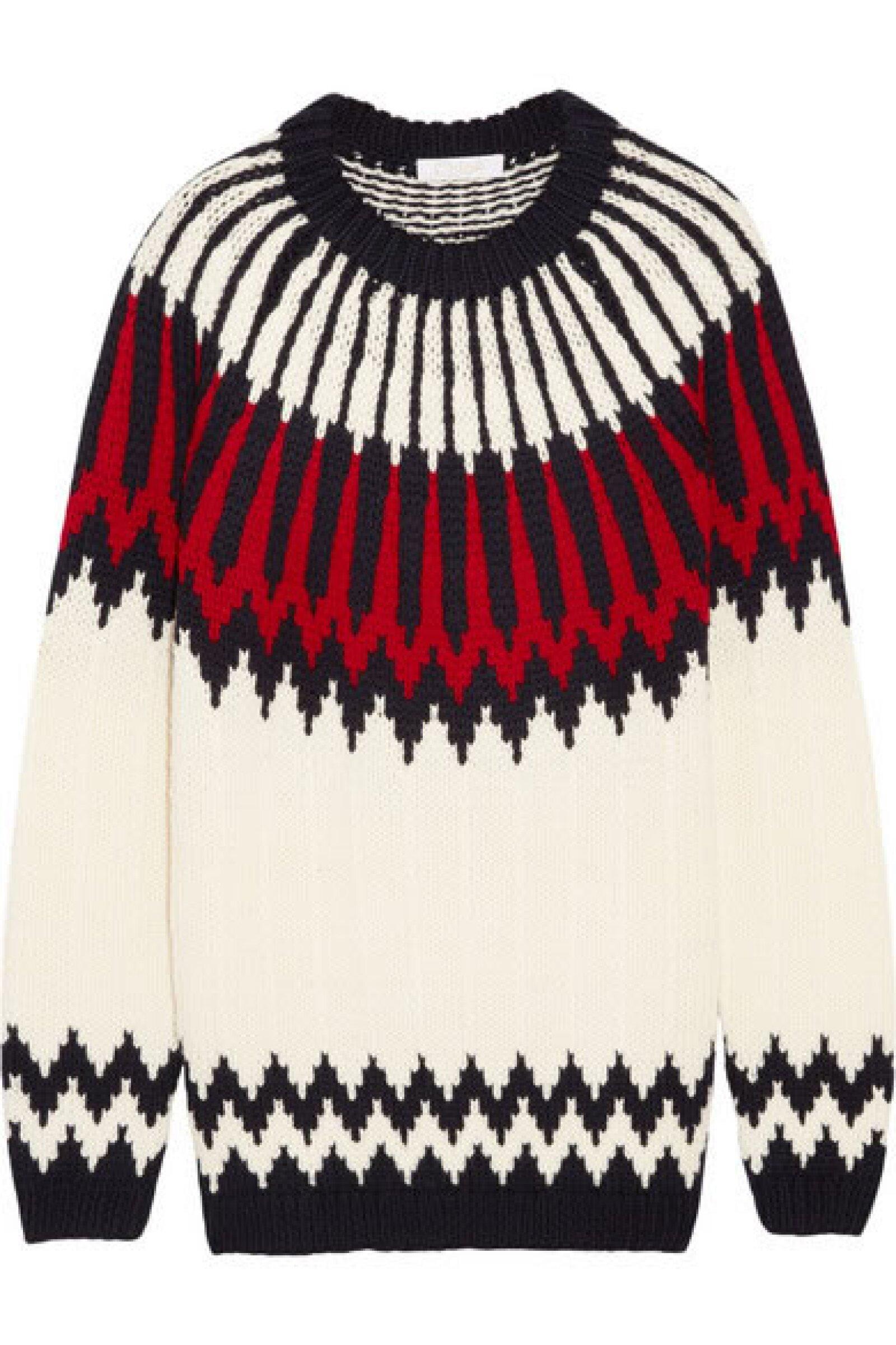 Este suéter Chloé te servirá para ir a cenar o ir a conocer el pueblo.